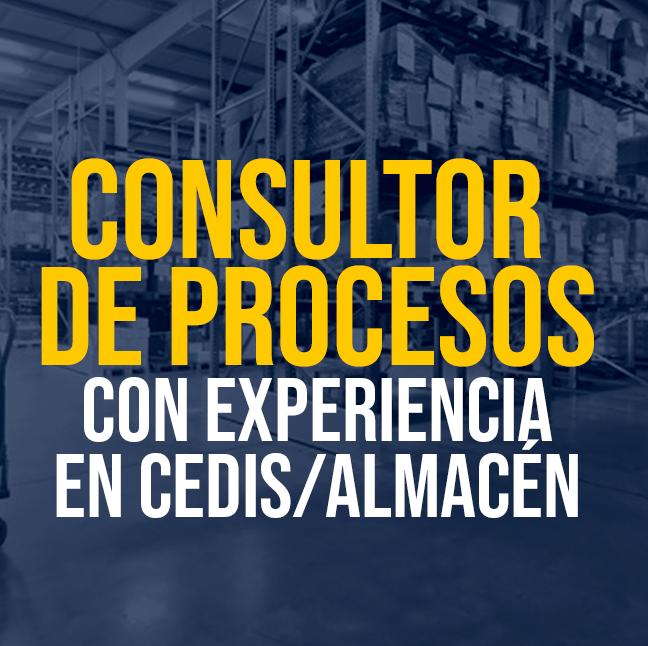 Consultor de Procesos con experiencia en CEDIS/Almacén